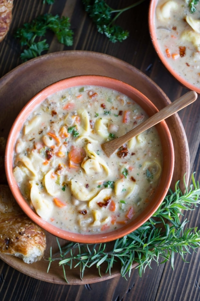 Tuscan White Bean Soup with Tortellini