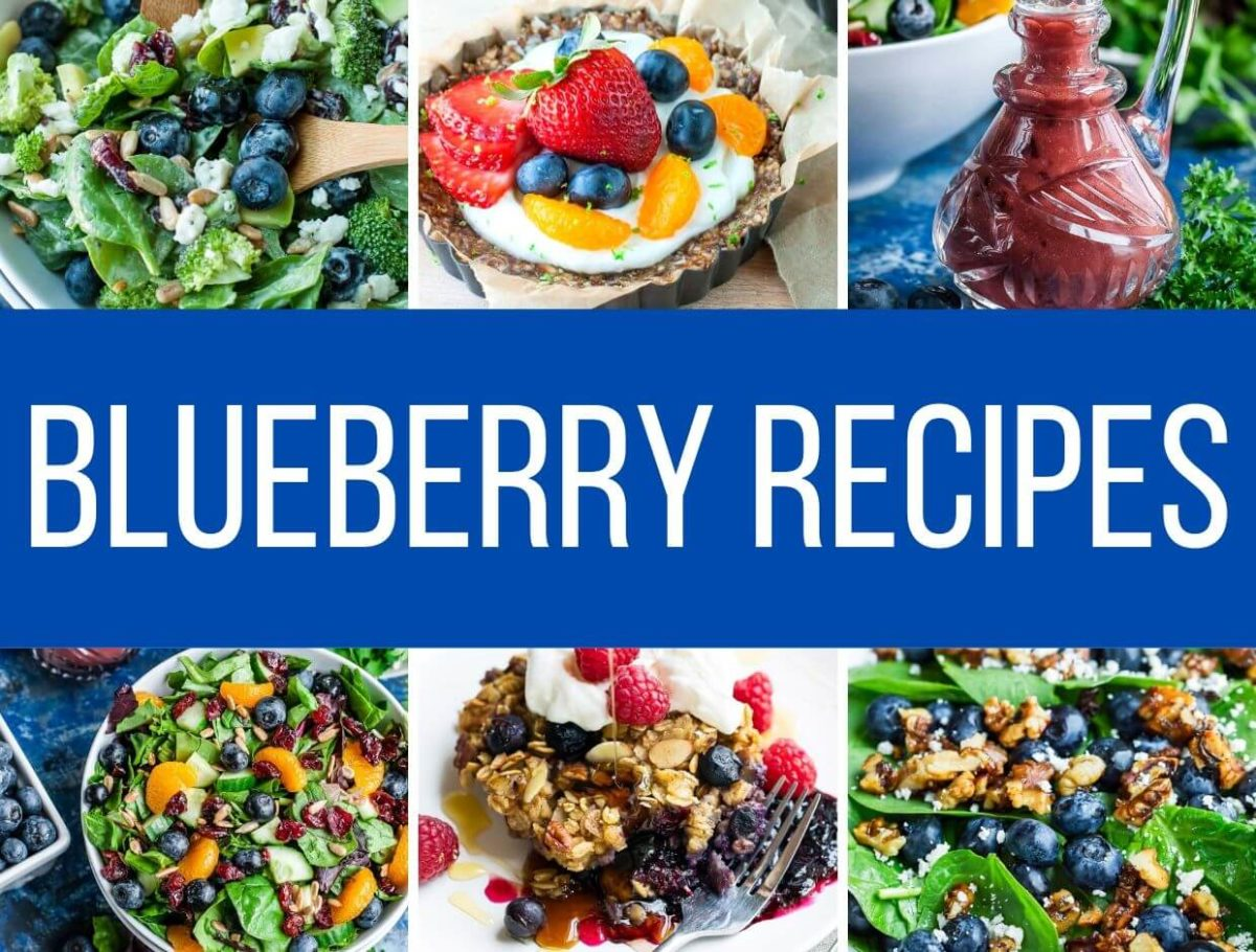 Sweet and Savory Blueberry Recipes Collage