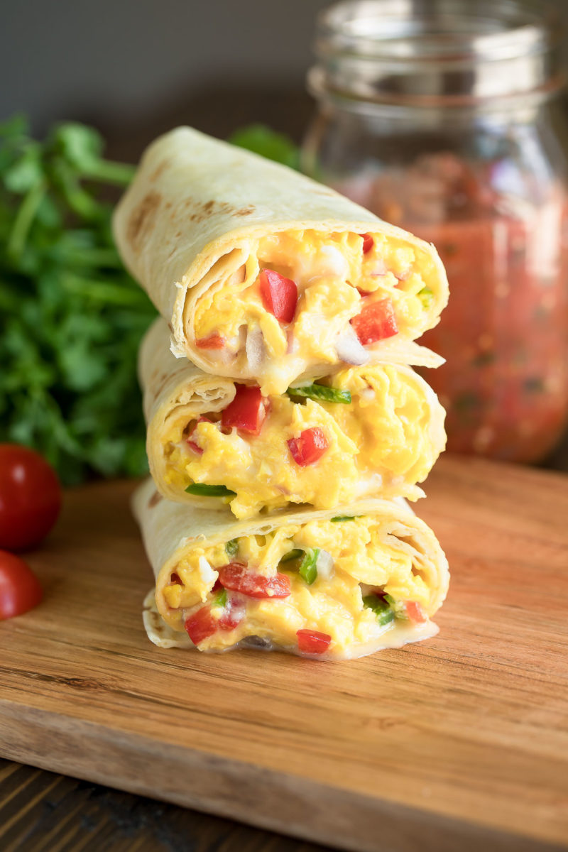 Vegetarian Breakfast Burritos