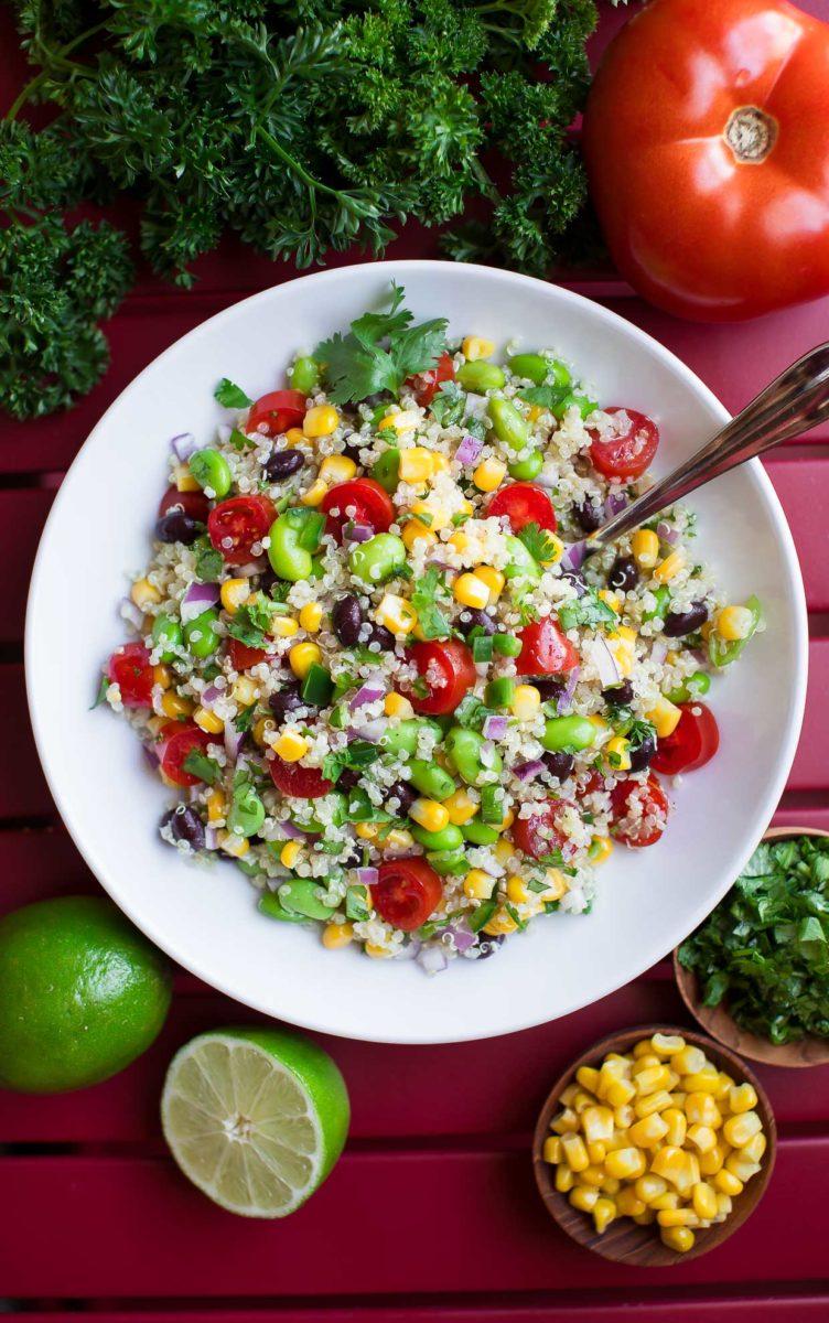 Vegetarian Cilantro Lime Quinoa Salad