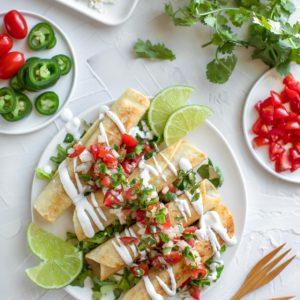 Homemade Vegetarian Taquitos