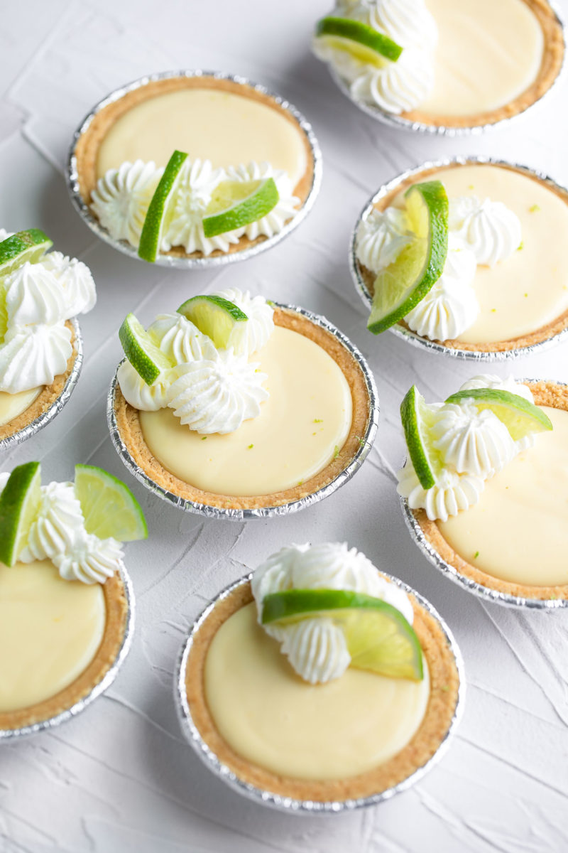 Mini Key Lime Pies with Graham Cracker Crust