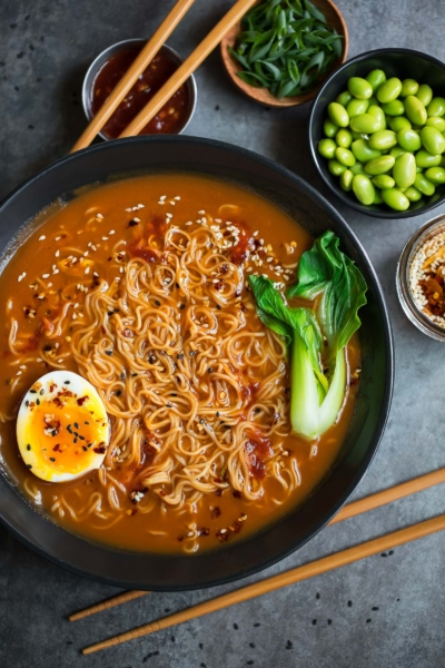 Spicy Vegetarian Ramen