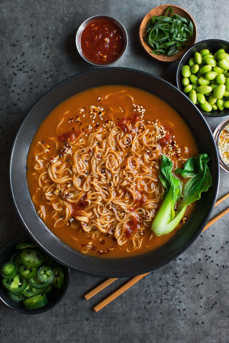 Vegetarian Ramen Ingredients