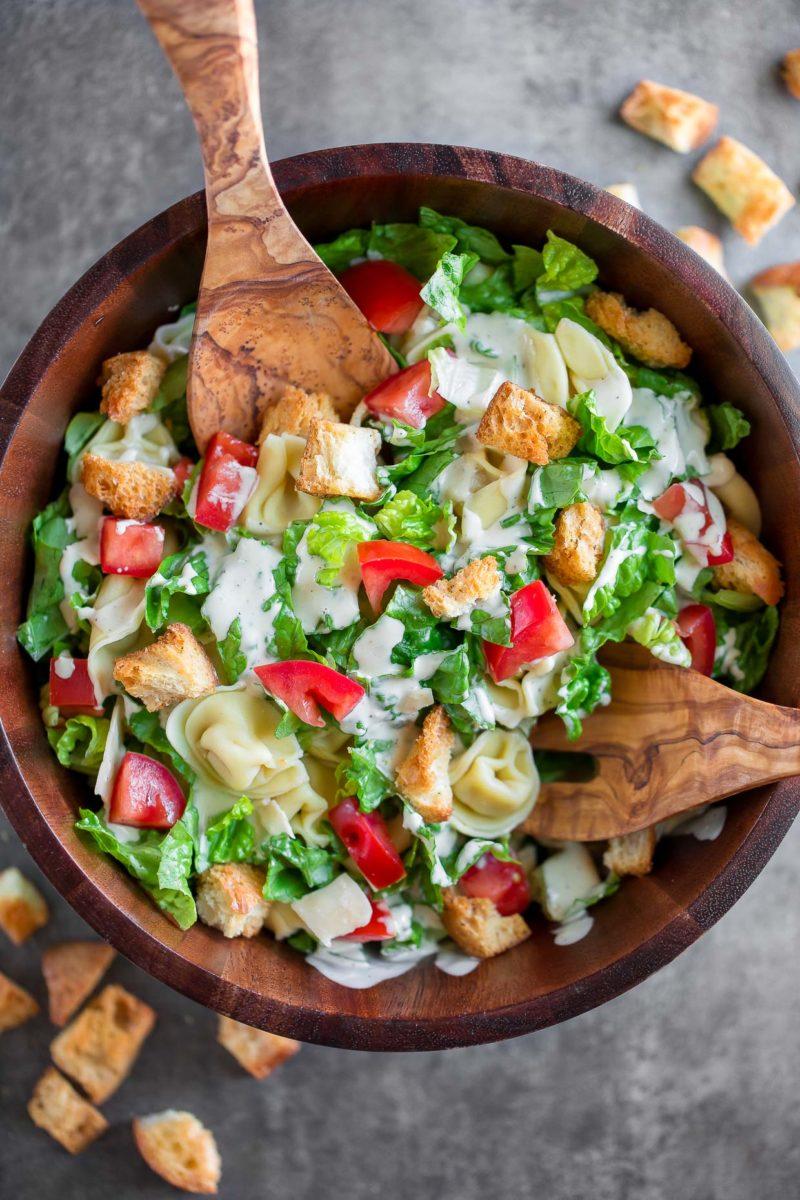 Easy Tortellini Caesar Salad Recipe