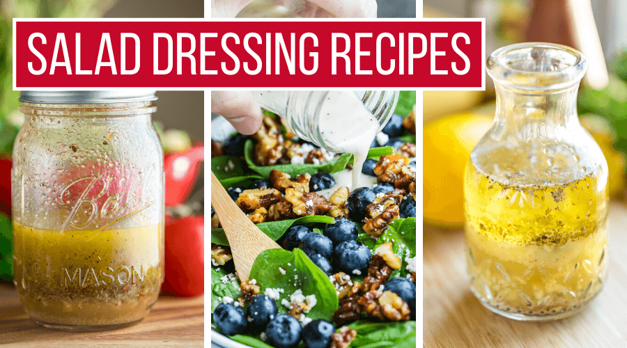 Easy Homemade Salad Dressing Recipes Collage