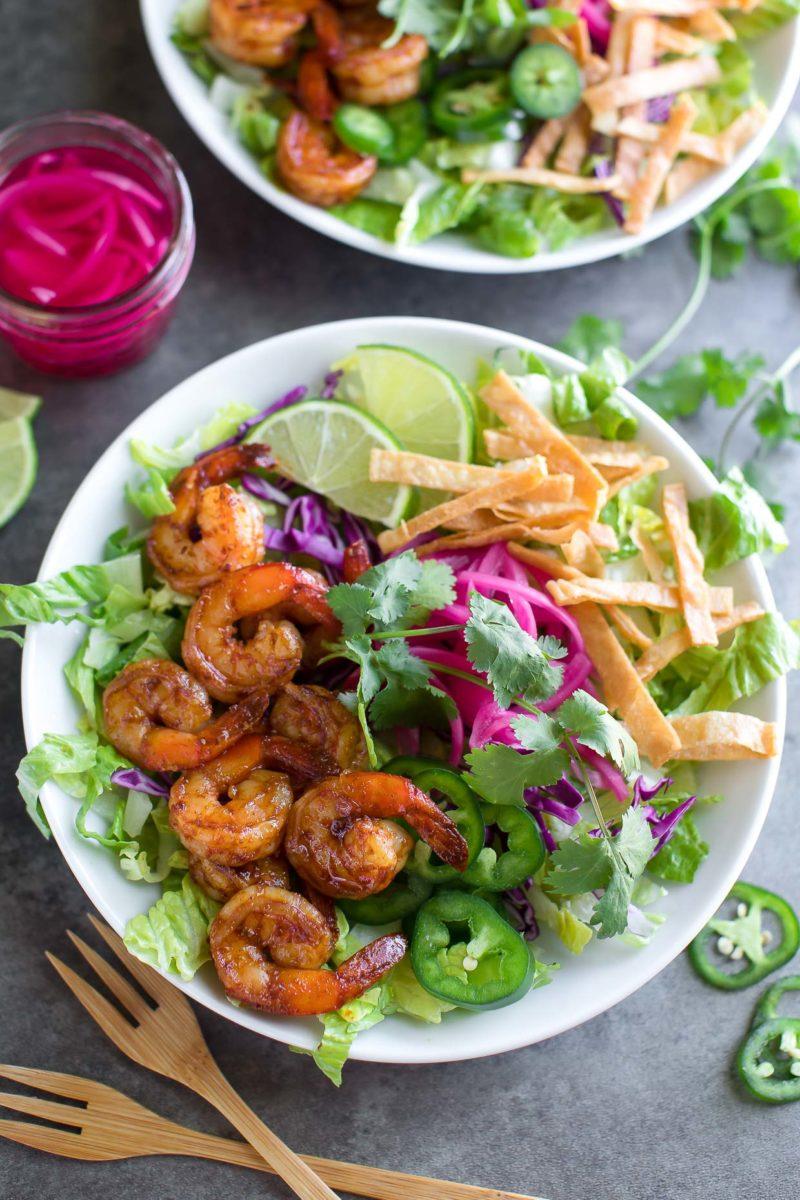Spicy Shrimp Taco Bowls