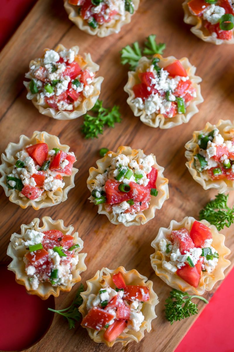 Greek Feta Dip Phyllo Cups