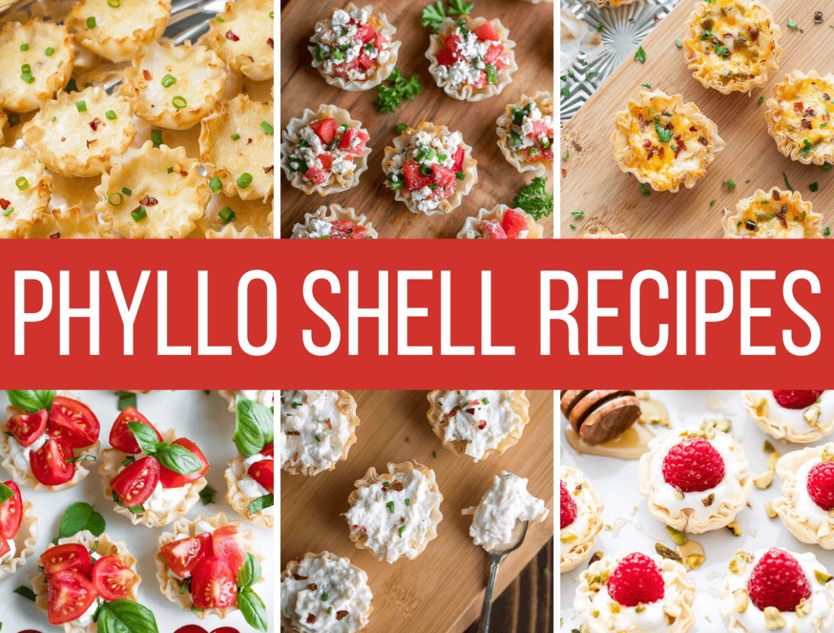 Phyllo Shells Recipes Collage