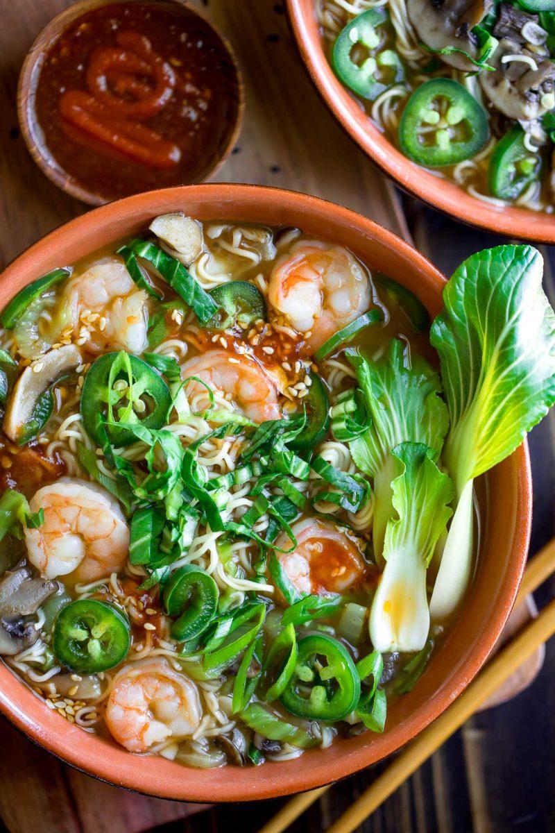 Spicy Shrimp Ramen Bowls