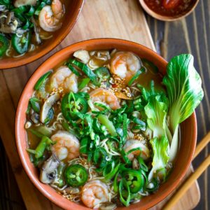 Spicy Shrimp Ramen Bowls