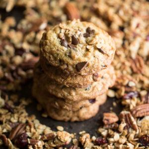Chocolate Pecan Granola Cookies