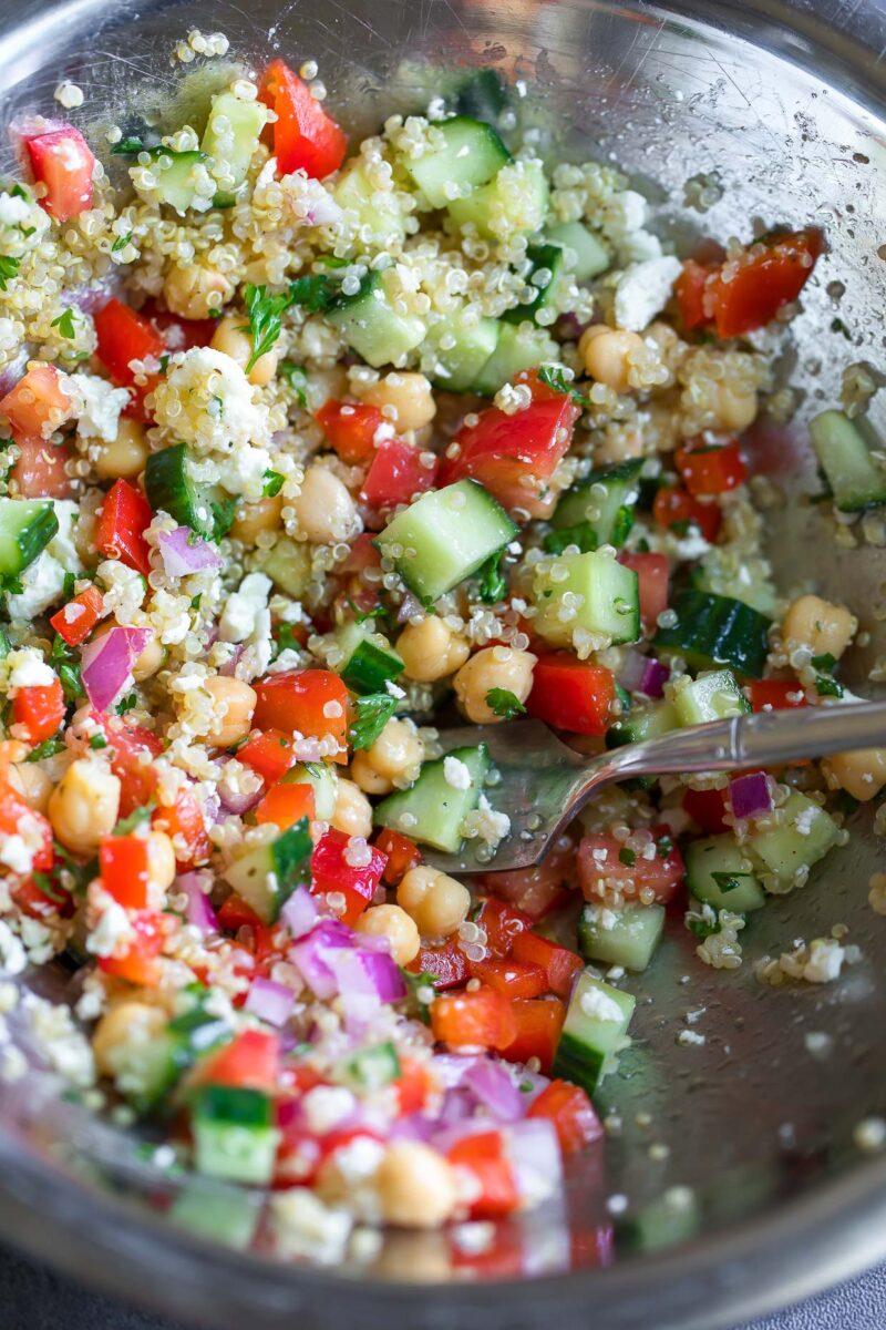 Greek Quinoa Salad Bowl