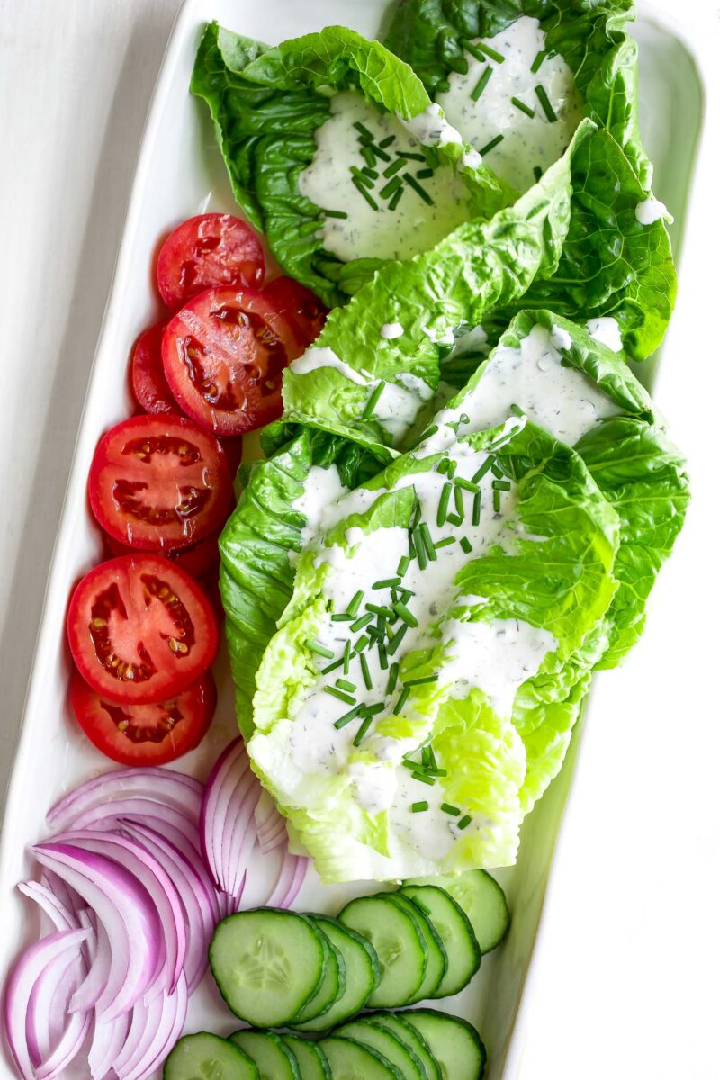 Homemade Buttermilk Ranch Dressing with Salad