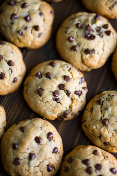 Puffy Peanut Butter and Chocolate Chip Cookies