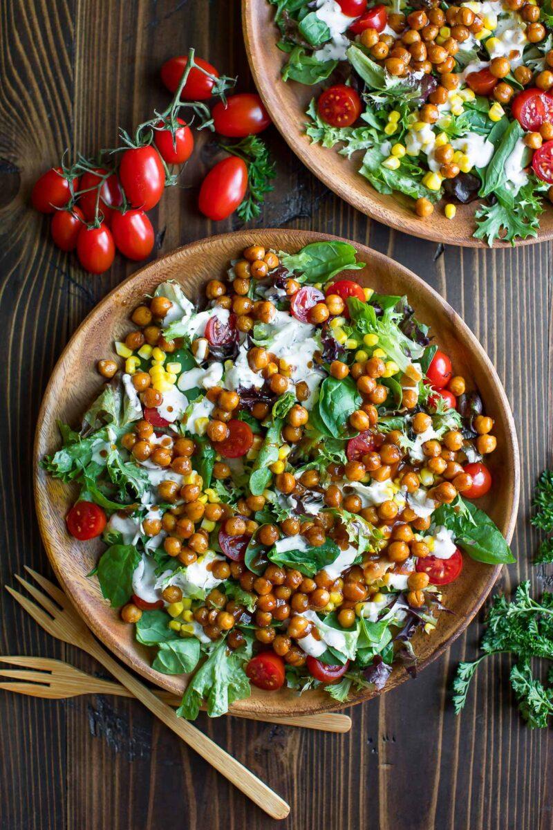 Barbecue Chickpea Salad Bowl