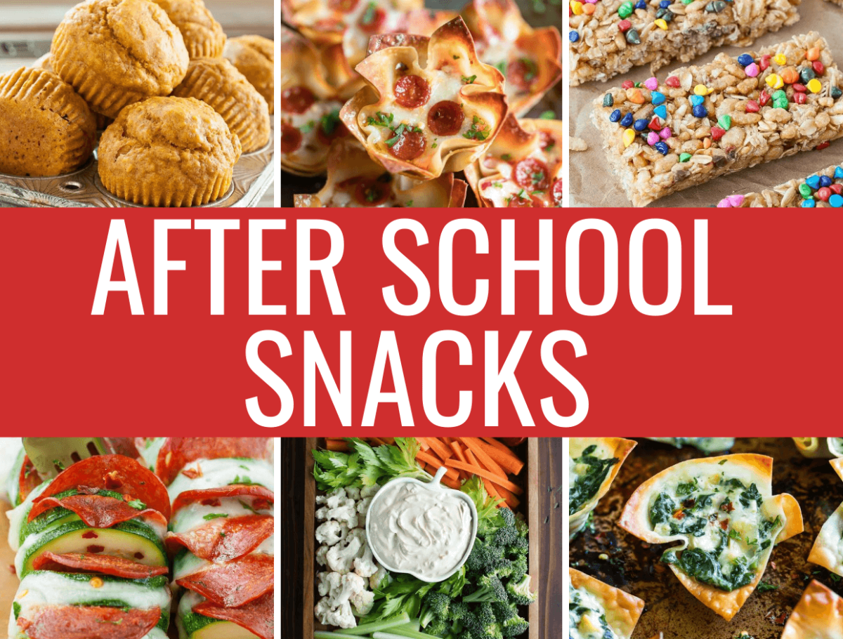 Awesome After School Snacks Collage