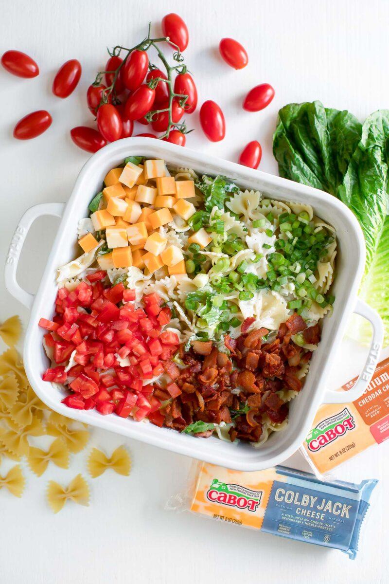 Bacon Ranch Pasta Salad Ingredients