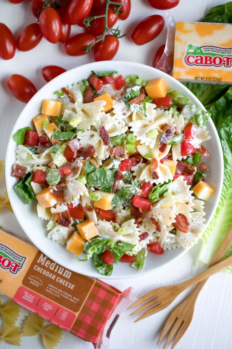 Bacon Ranch Pasta Salad with Cabot Cheddar