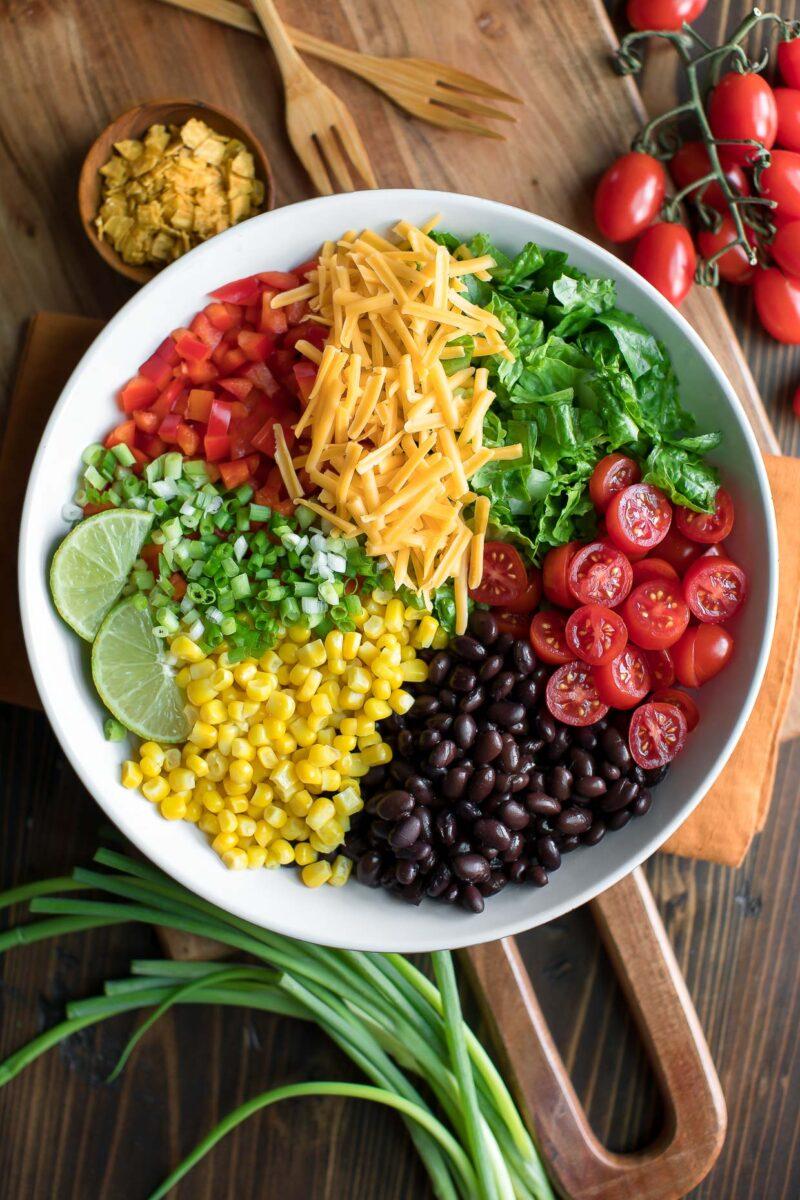 Vegetarian Taco Salad Ingredients