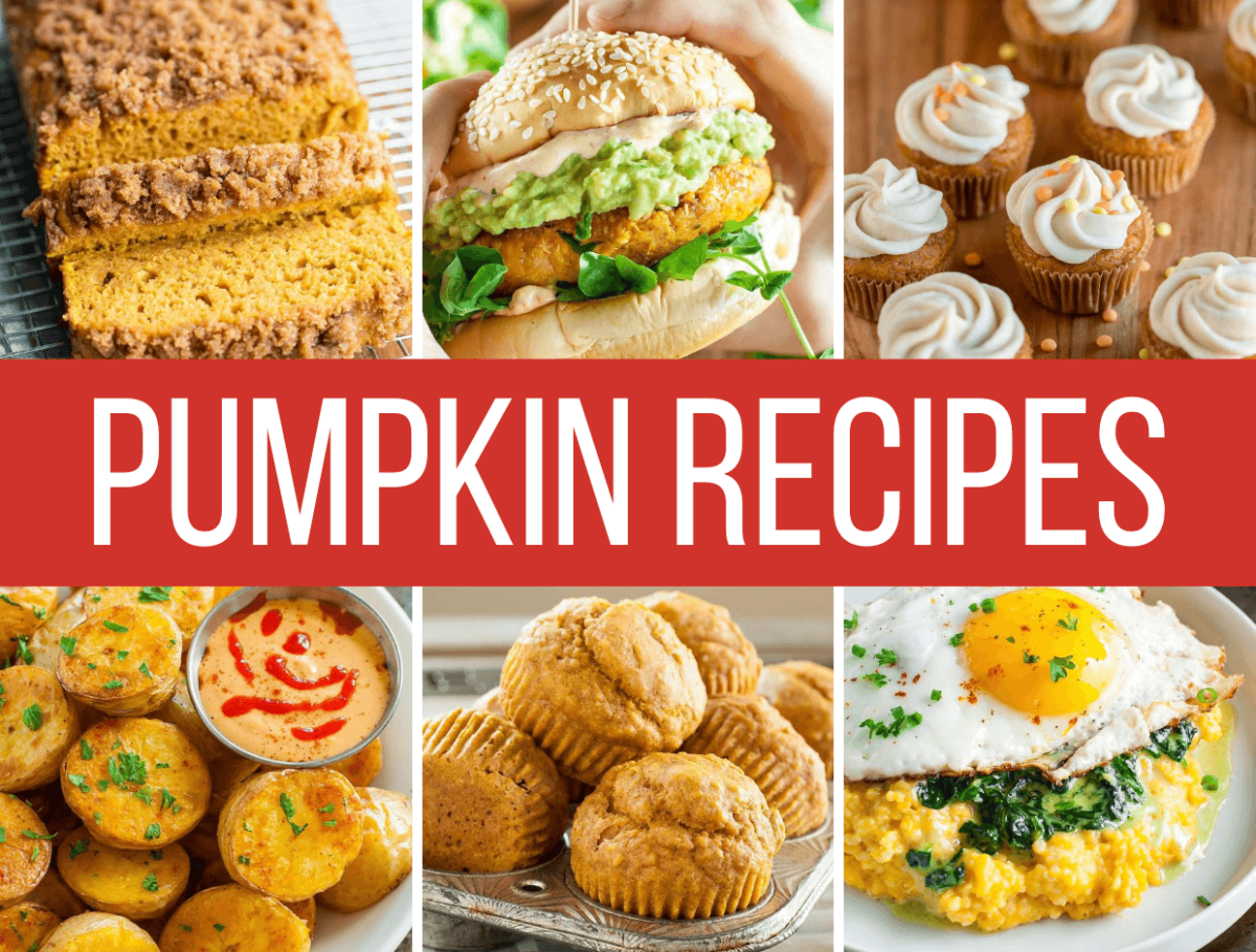 Canned Pumpkin Recipe Roundup Collage