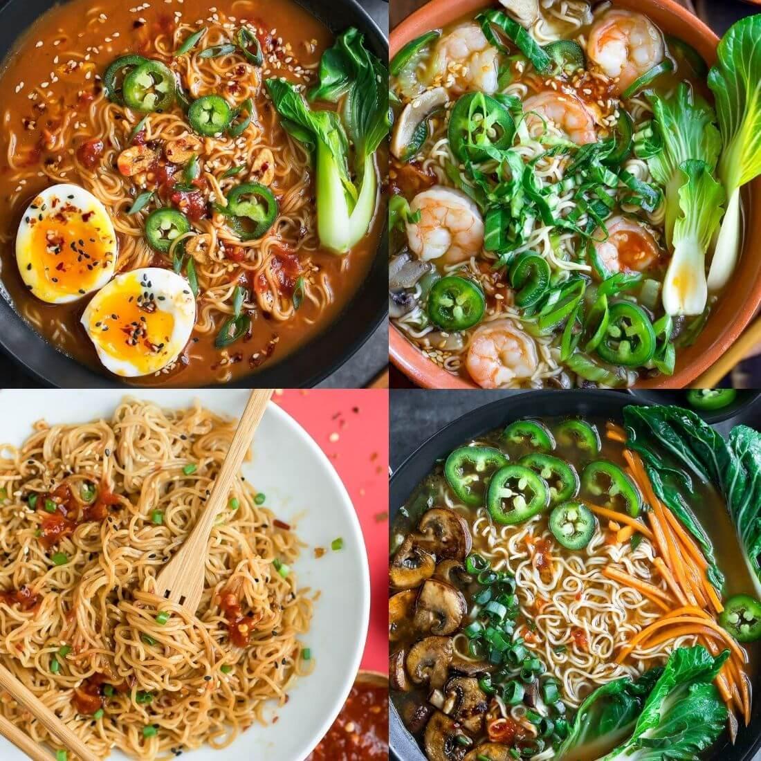 Ramen Noodle Bowls Collage