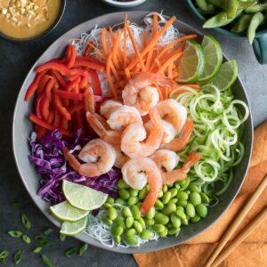 Shrimp Spring Roll Bowls