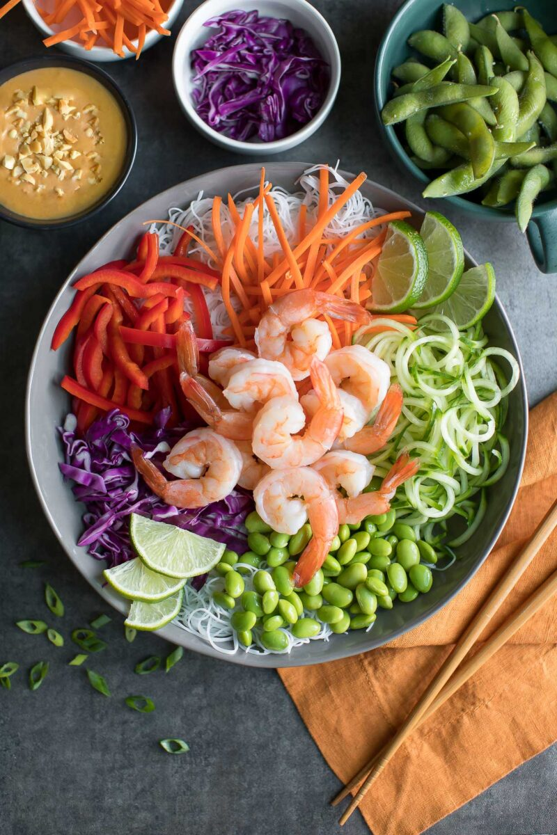 Shrimp Spring Roll Bowl