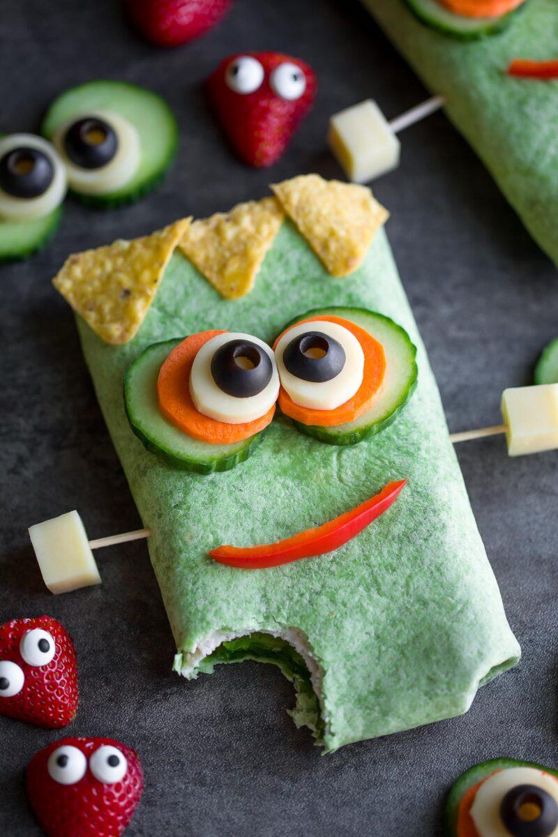 Frankenstein Monster Sandwich Wrap
