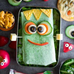 Frankenstein Halloween Sandwich Wraps