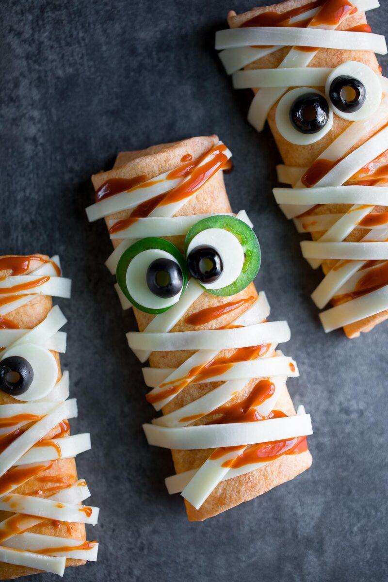 Halloween Mummy Burritos