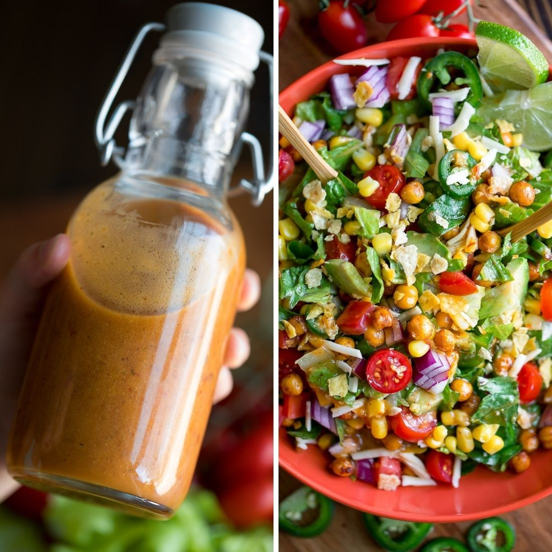 Honey Chipotle Dressing and Taco Salad