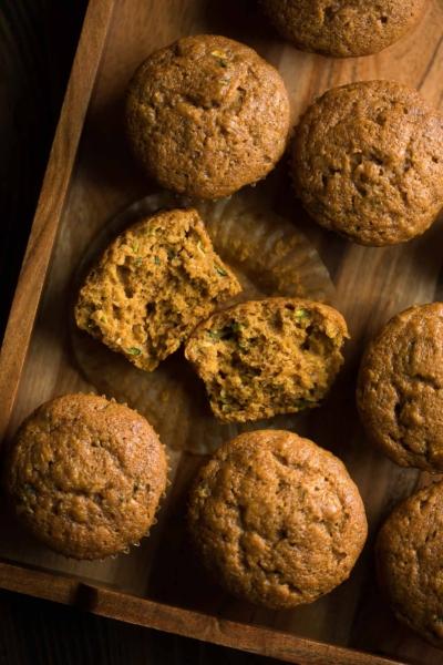 Pumpkin Zucchini Muffins