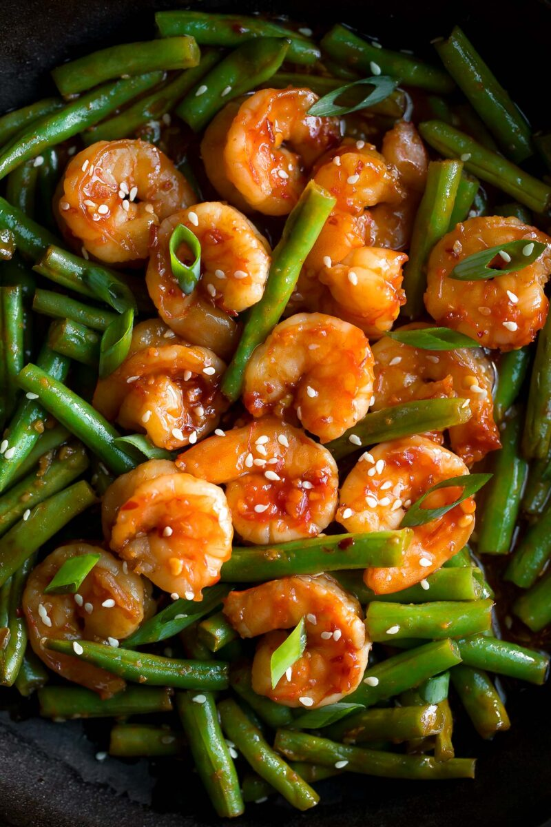 Spicy Shrimp and Green Beans