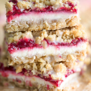 Cranberry Cheesecake Streusel Bars