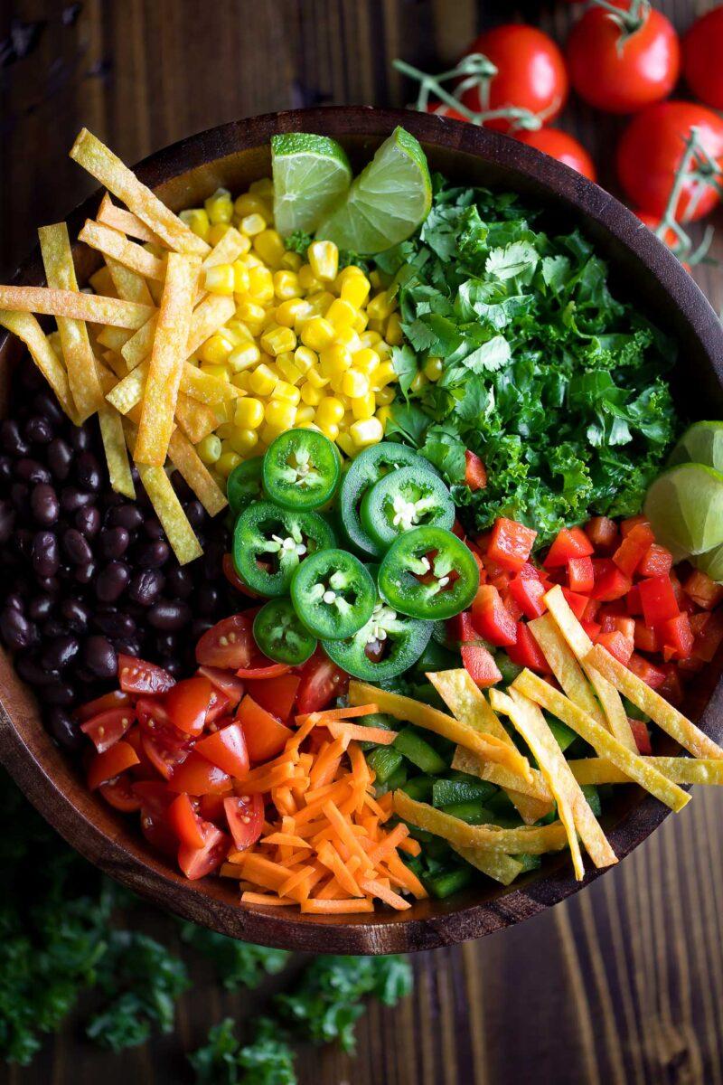 Kale Taco Salad Ingredients