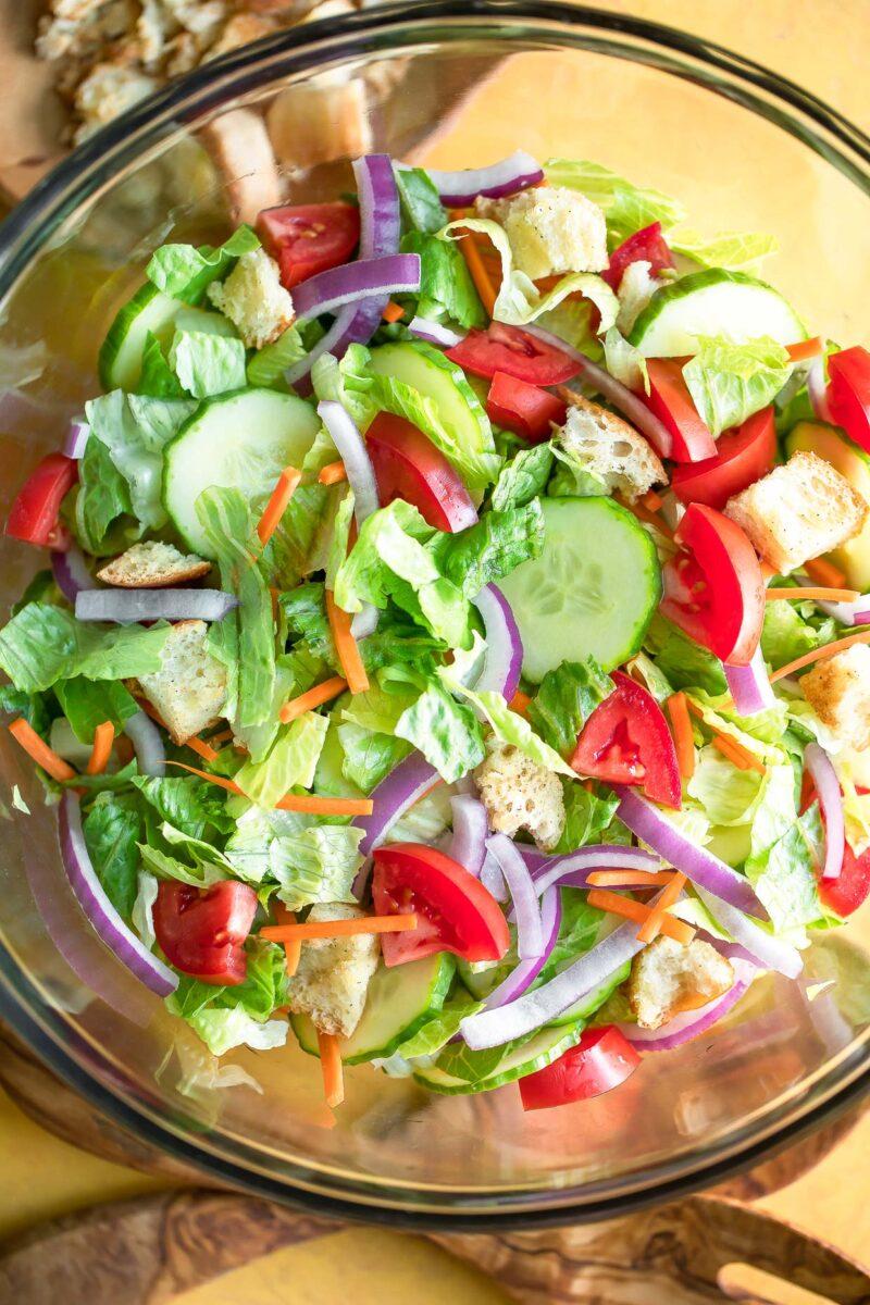 Garden Salad with Fresh Vegetables