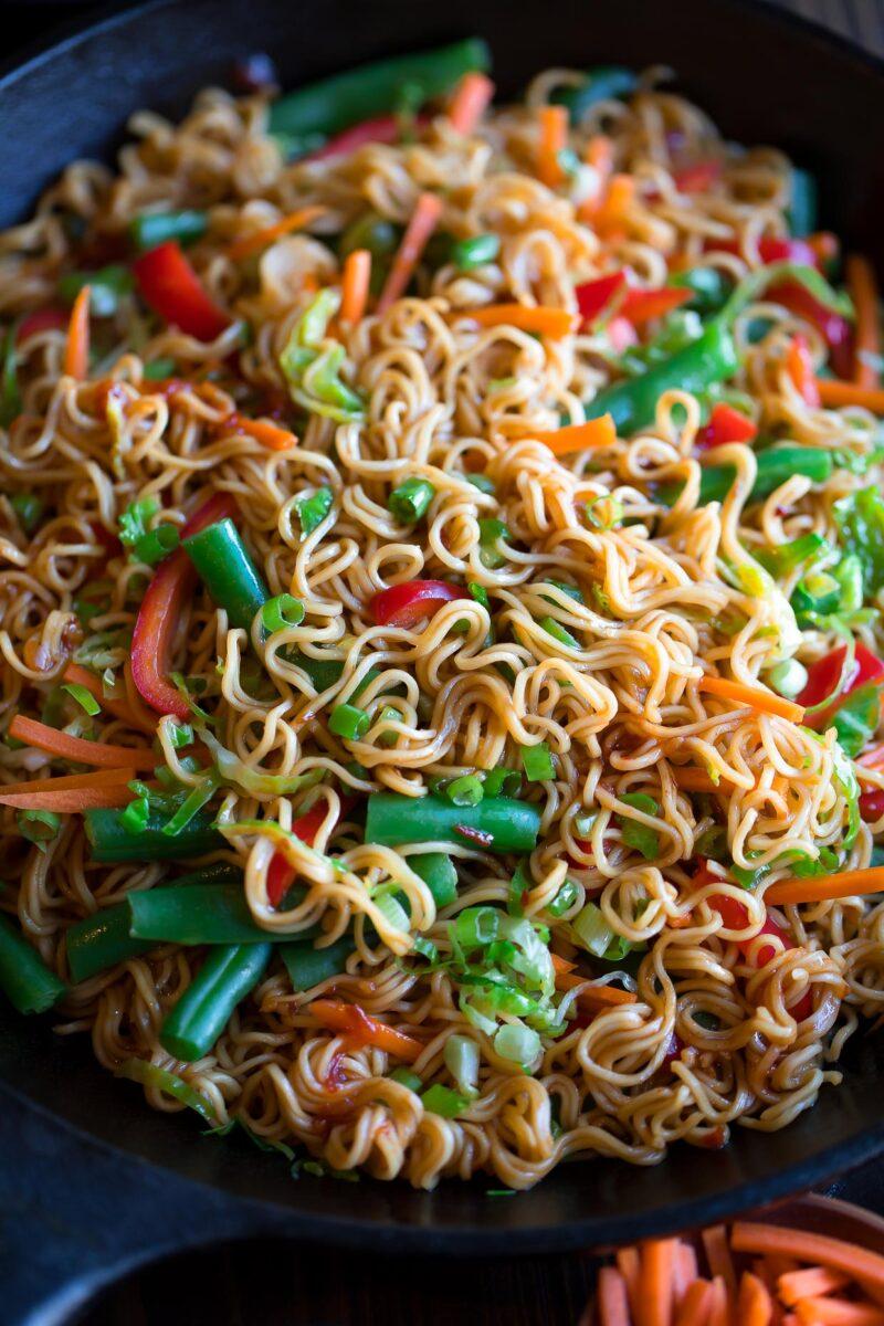 Vegetarian Stir Fry with Ramen Noodles