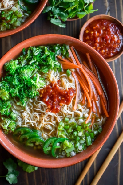 Chili Garlic Ramen Noodle Soup