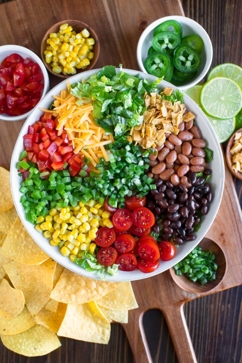 Taco Salad Ingredients and Toppings