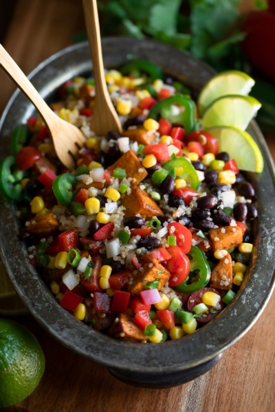 Mexican Quinoa Bowls with Black Beans and Sweet Potato