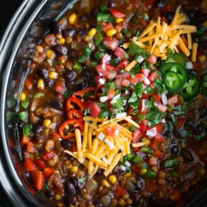 Slow Cooker Lentil Taco Chili