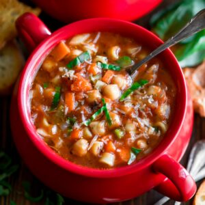 Vegetarian Chickpea Minestrone Soup