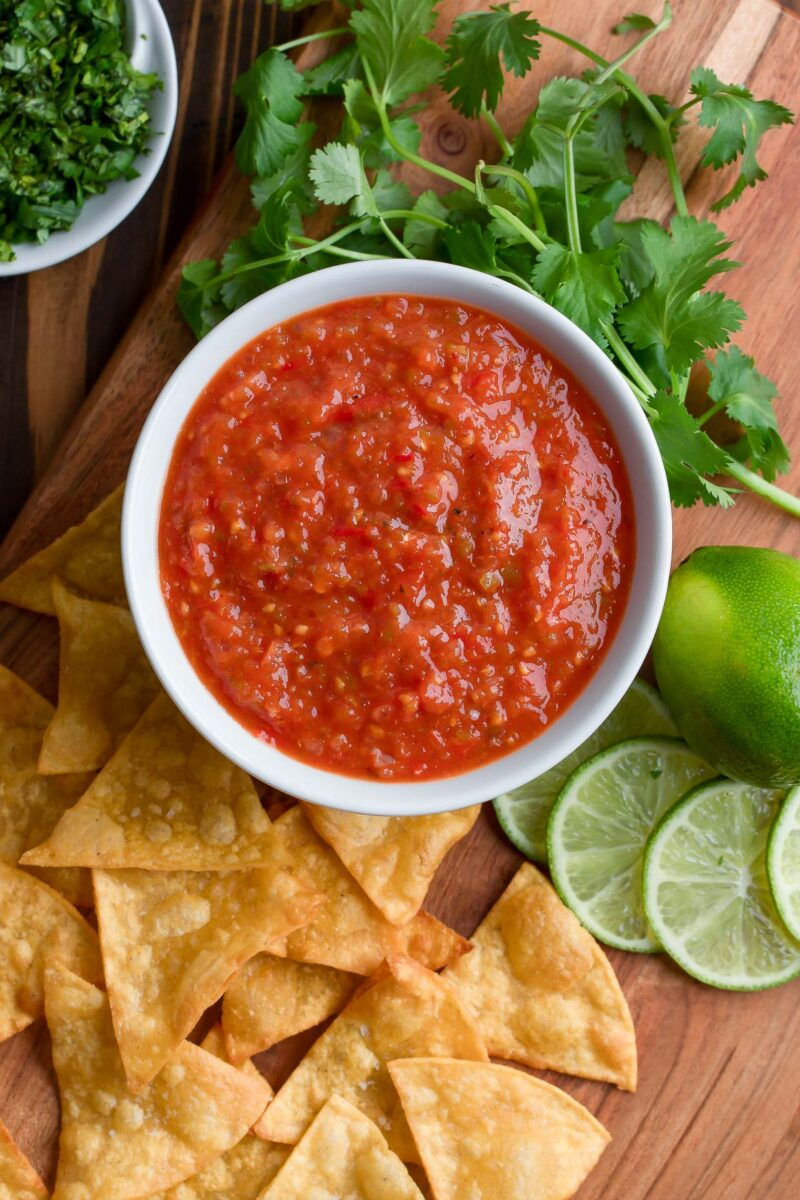 Roasted Tomato Salsa with Tortilla Chips