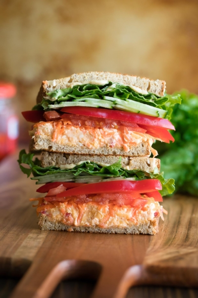 Ultimate Veggie Sandwich with Pimento Cheese