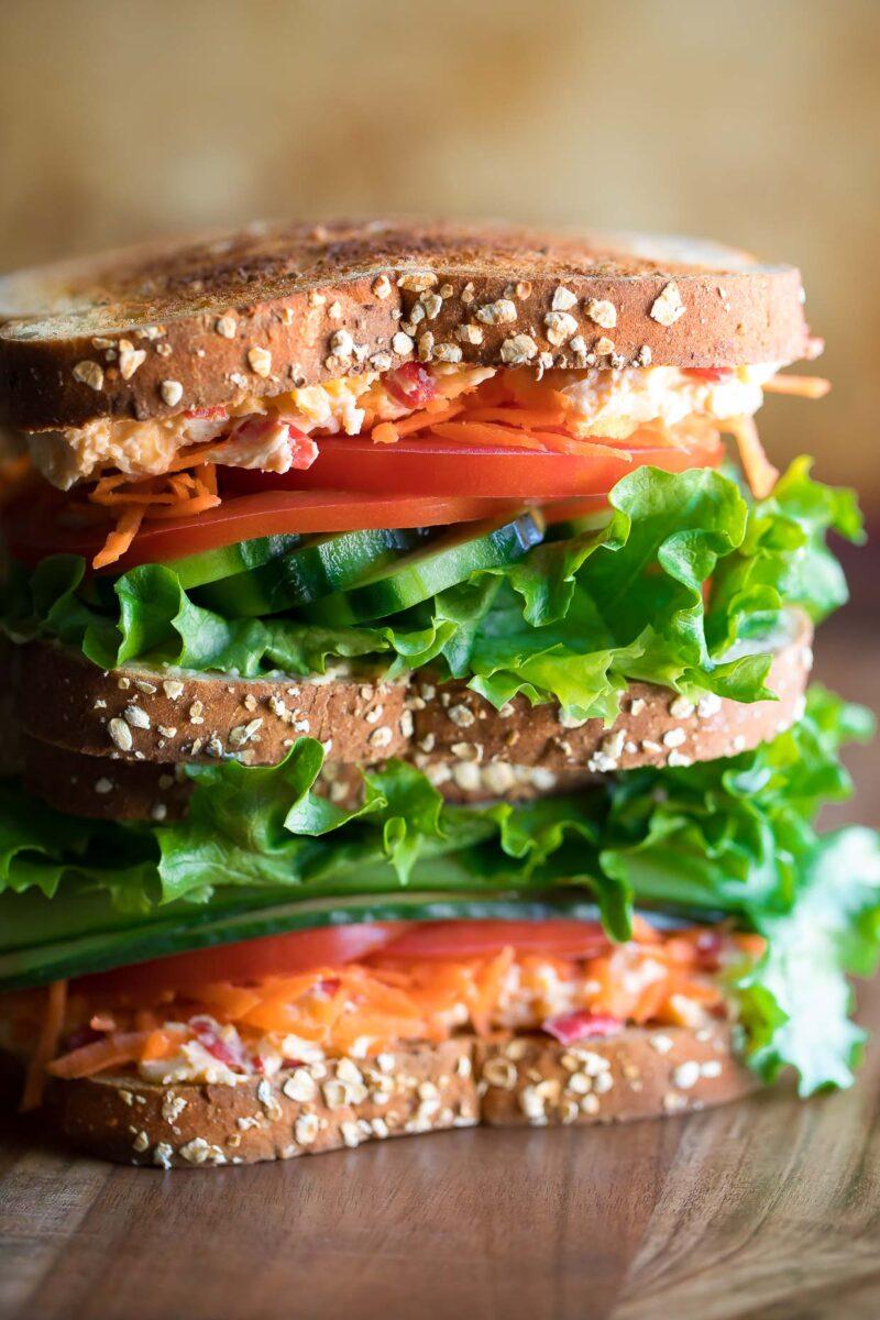 Pimento Cheese Veggie Sandwich