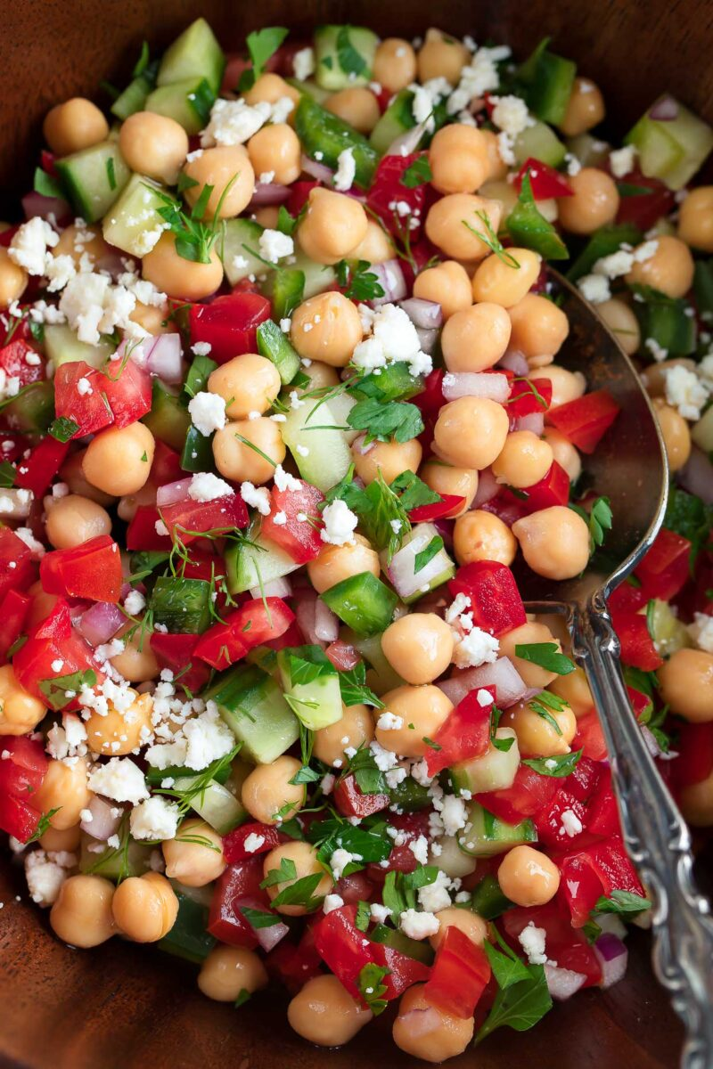 Chickpea Salad with Veggies and Herbs