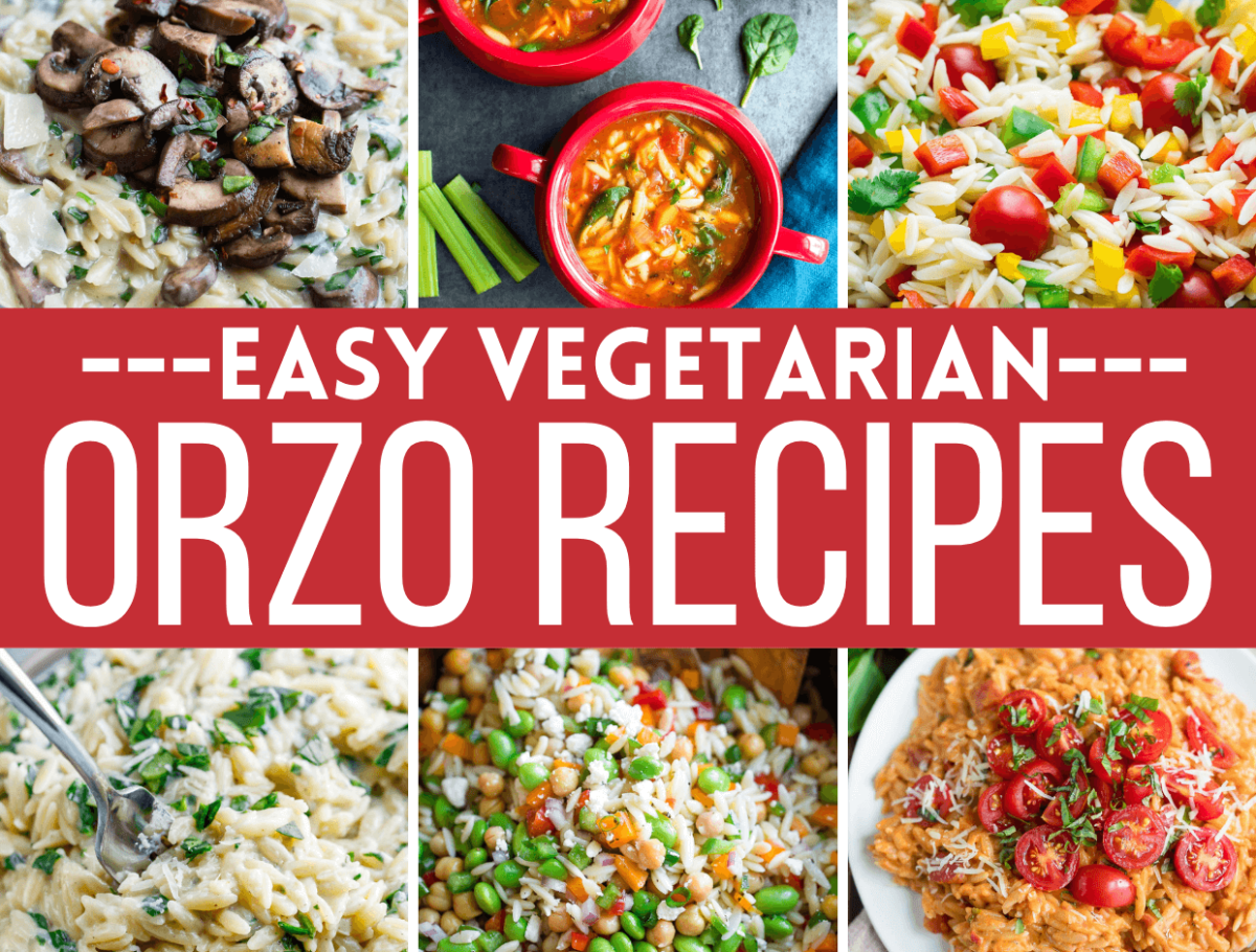 Vegetarian Orzo Recipes Collage