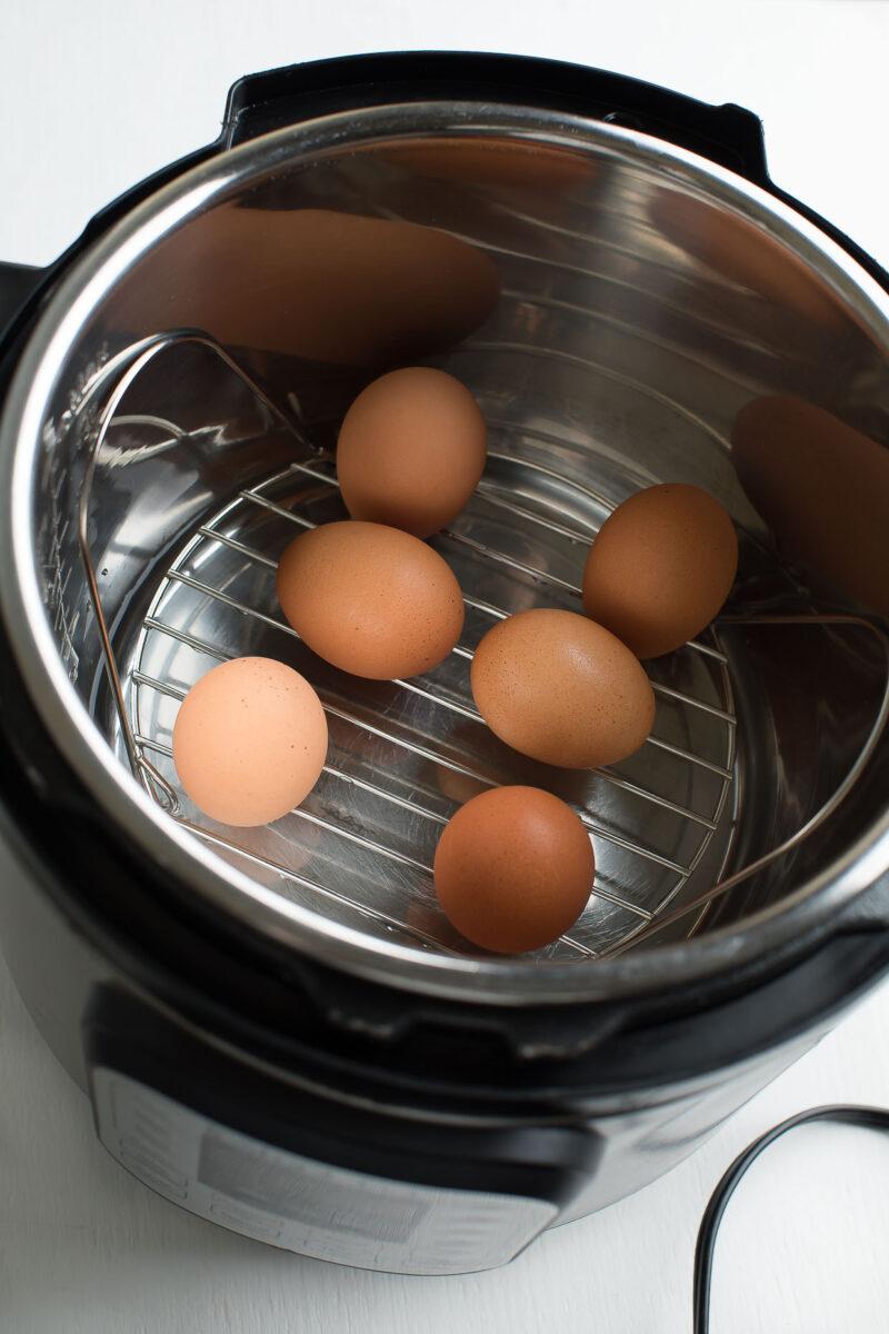 Instant Pot Hard Boiled Eggs for Deviled Eggs