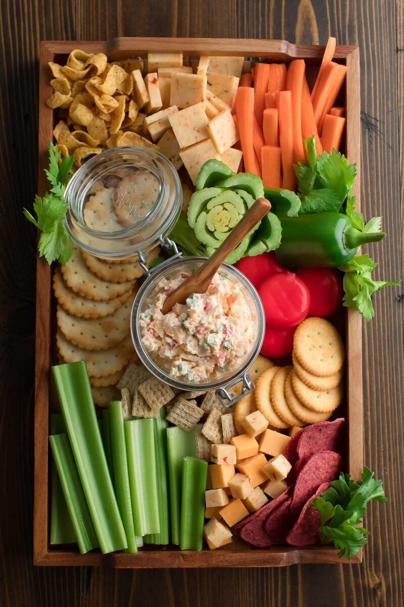Pimento Cheese Veggie and Cheese Board